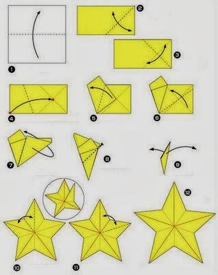 Origamis de Natal - Estrela de Natal