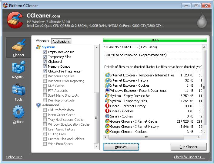 الويندوز (لاتحتاج CCleaner v4.01.4115, 2013 screenshot1.png