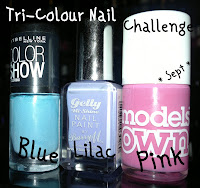 Tri-Colour-Nail-Challenge-maybelline-cool-blue-models-own-pink-blush-barry-m-prickly-pear