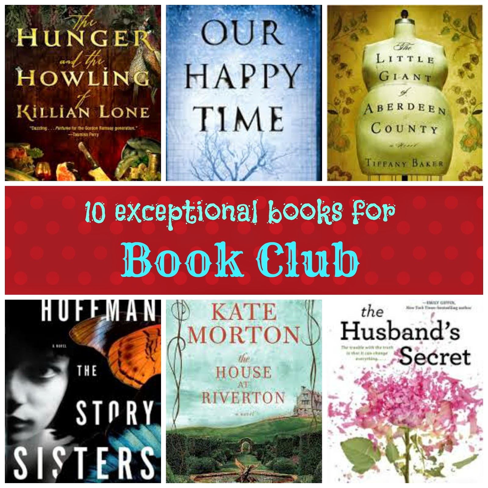 List of Books for Book Club
