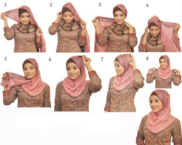 cara+memakai+jilbab+3 Cara Memakai Jilbab   Model Model Jilbab