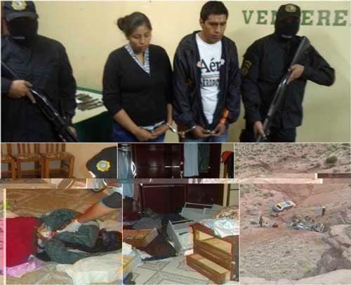 Policía presentó a los presuntos asesinos de una mujer en Tupiza
