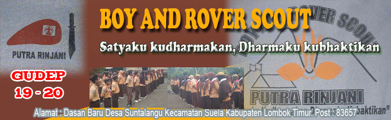 BOY AND ROVER SCOUT OF PUTRA RINJANI