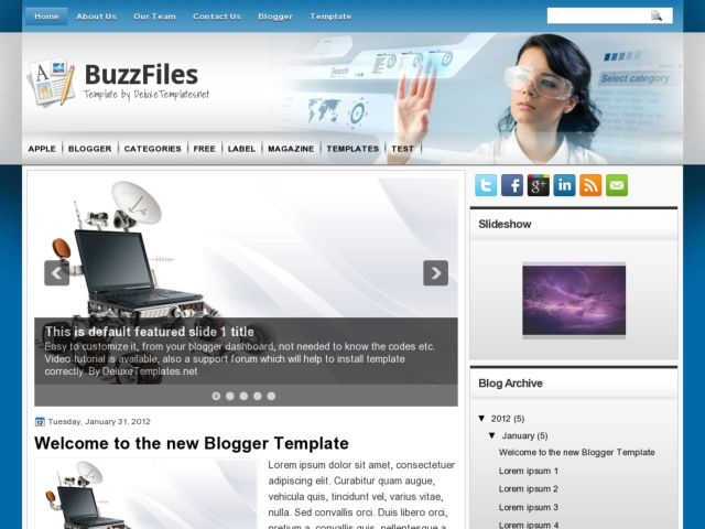 BuzzFiles Blogger Template