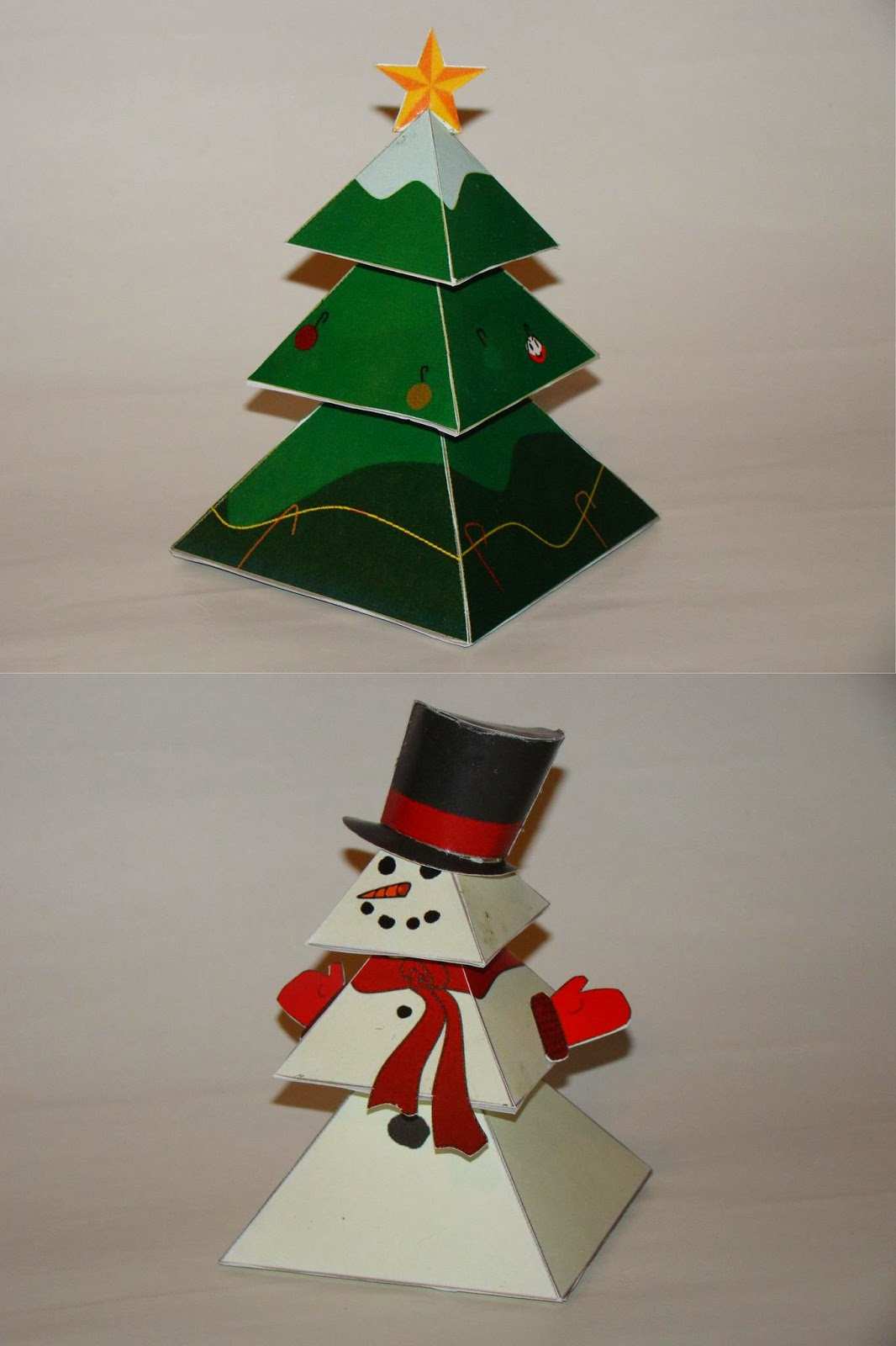 Christmas Tree With Toys : Paper toys snowman christmas tree papercraft u free