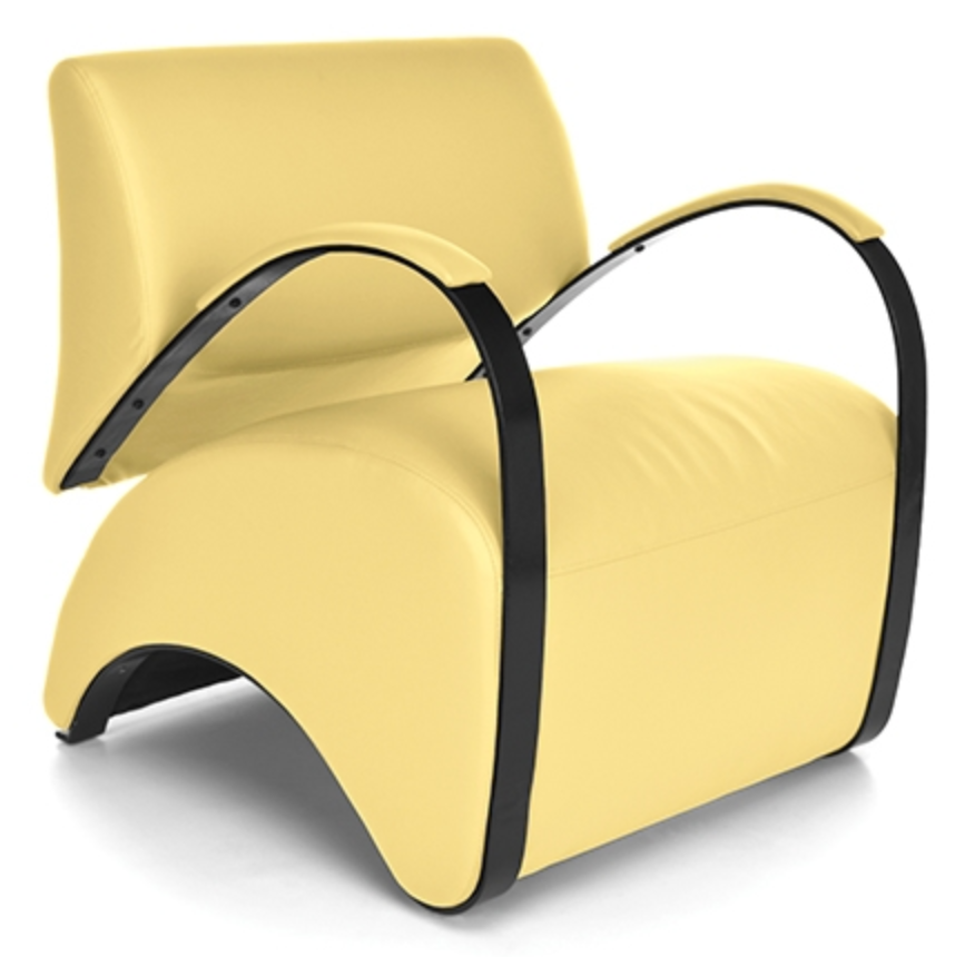 Yellow Recoil Lounge Chair by OFM
