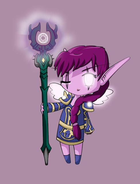 Night Elf Priest por CharlotteHarlot