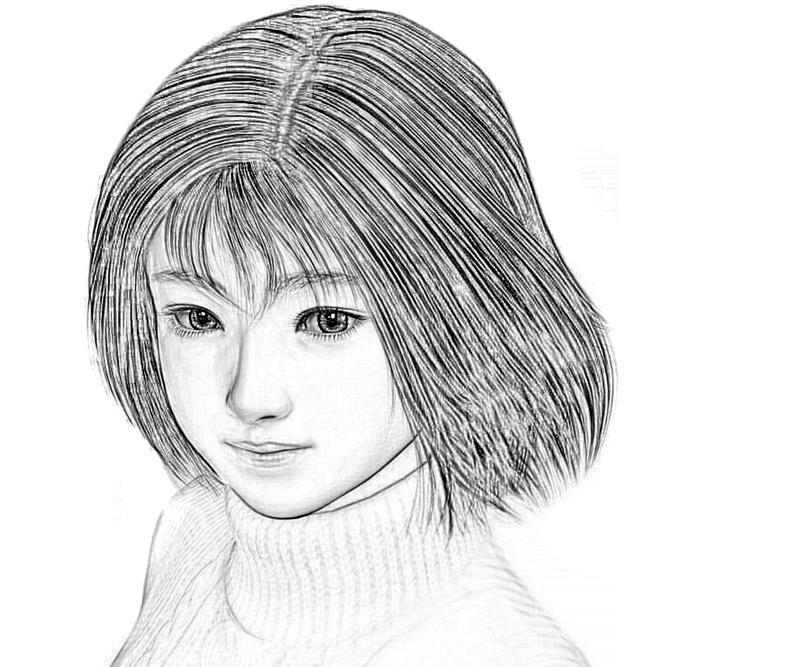shenmue-nozomi-cute-coloring-pages