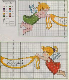 Professione donna schemi per il punto croce angioletti for Angioletti punto croce per bambini