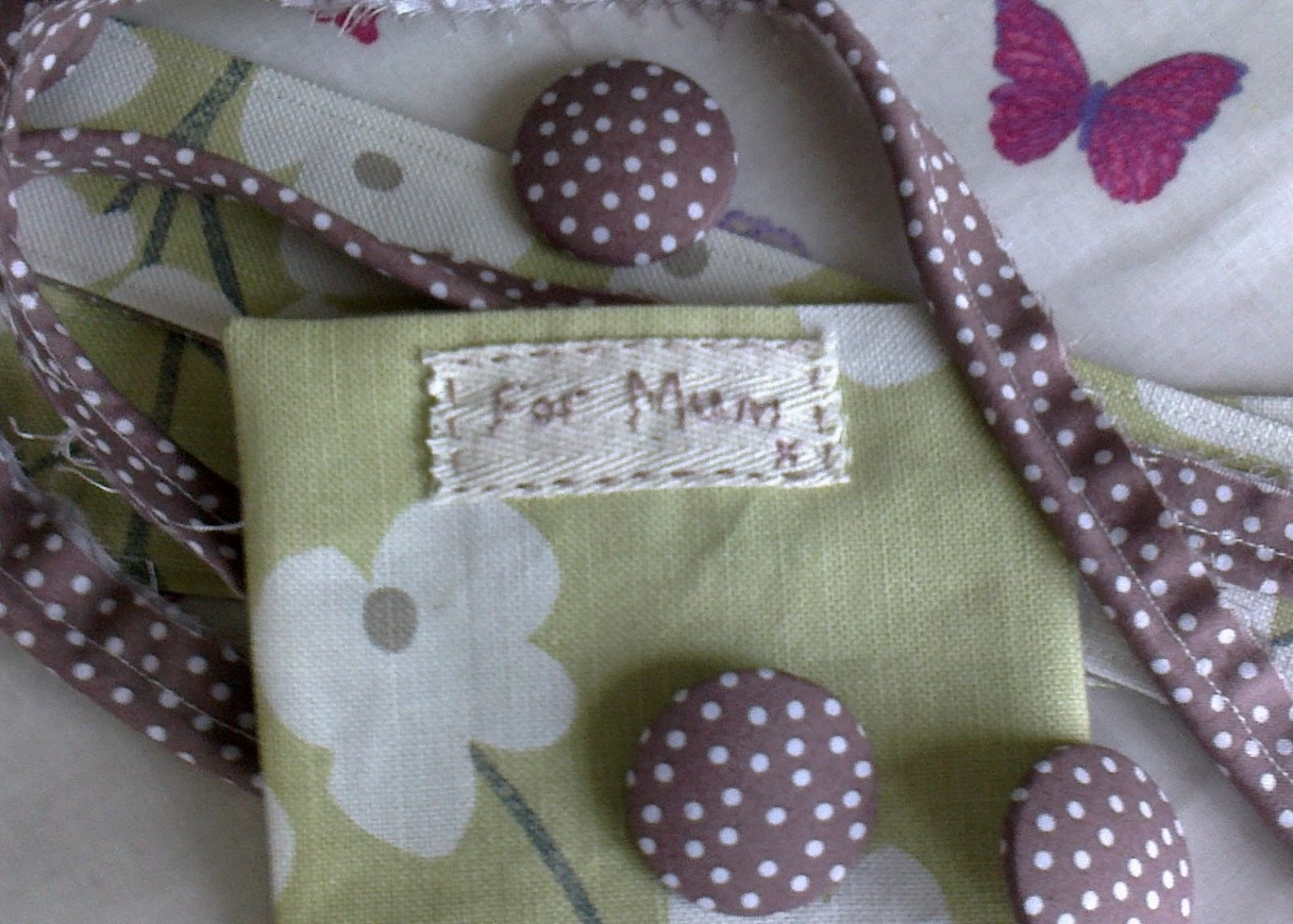 kitchen table sewing for mum