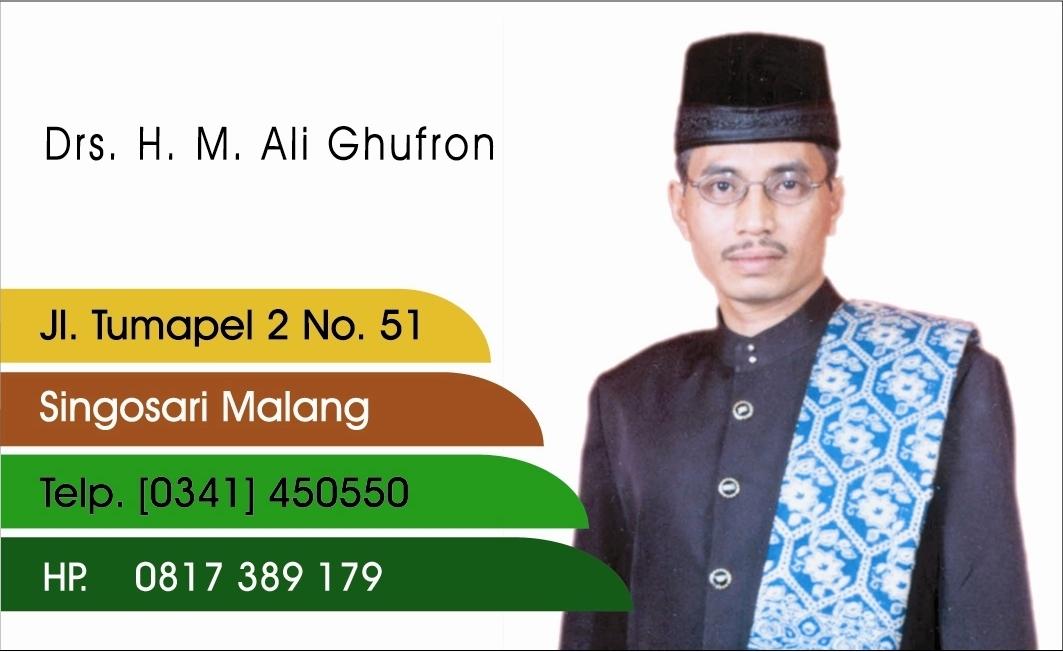 M. ALI GHUFRON RISYAM, Singosari Malang Jatim -www.alighufron.blogspot.com/ag.fron@gmail.com