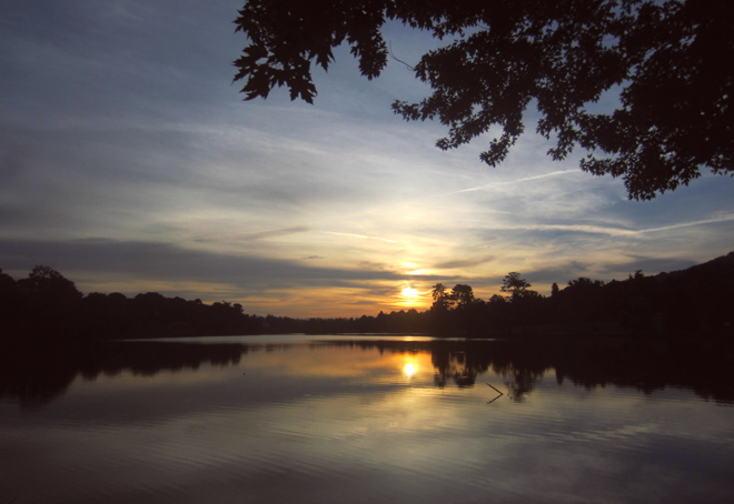 June Sunset on Lake
