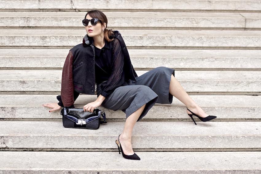 How to wear culottes trousers fashion blogger outfit idea , irene buffa