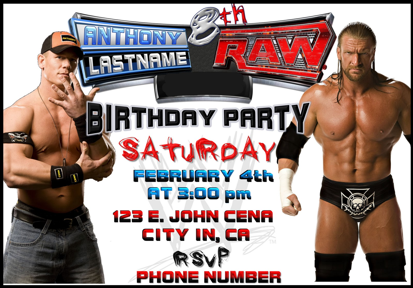 WWE Birthday Invitations correctly perfect ideas for your invitation layout