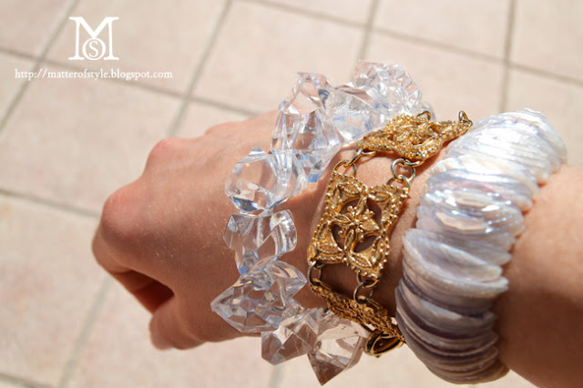 diy, fashion diy, crystal clear bracelet
