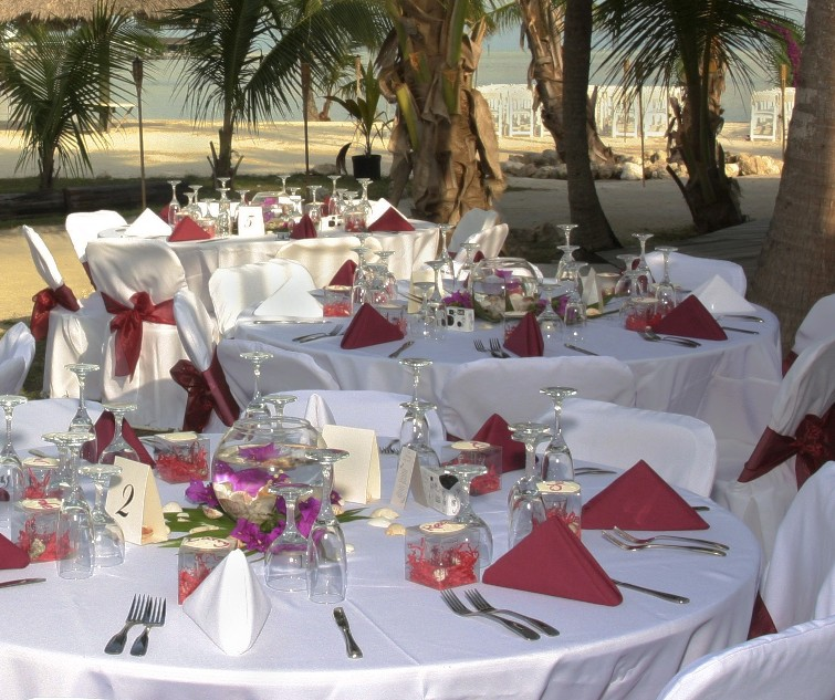 Table decorations for wedding receptions cheap living for Cheap beach decorations for the home