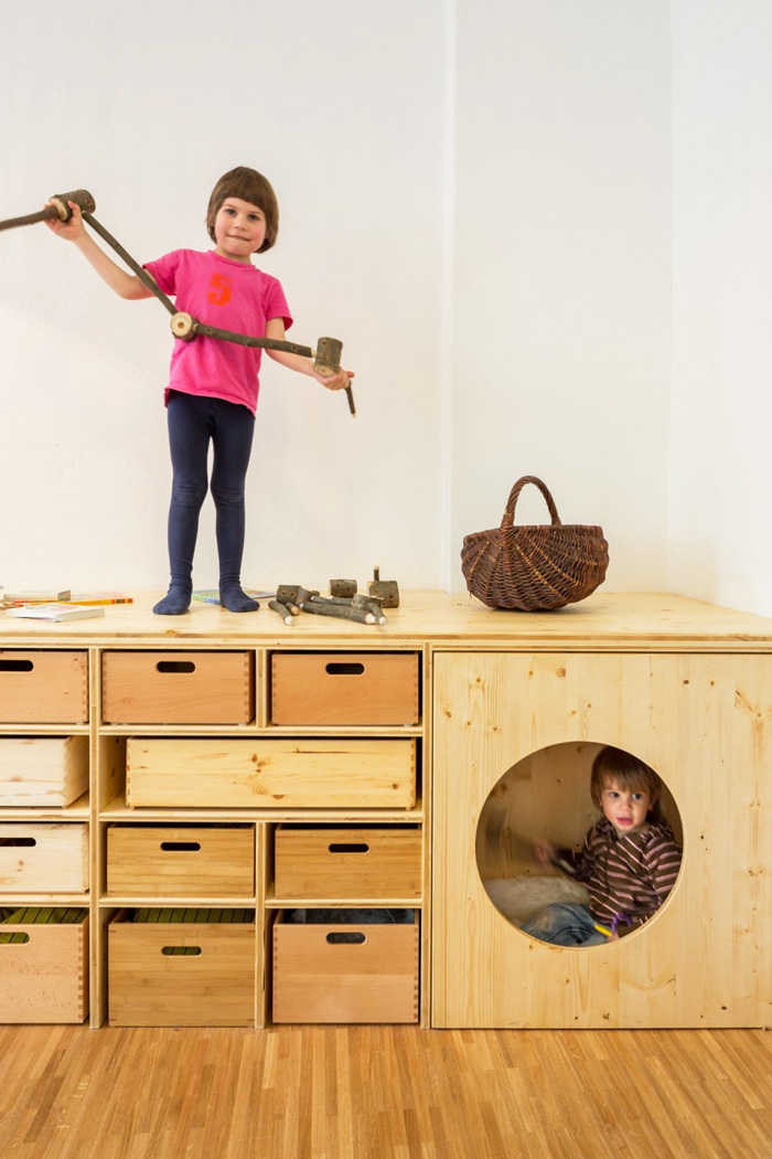 storage for kids from plywood - kits drachenhohle by baukind