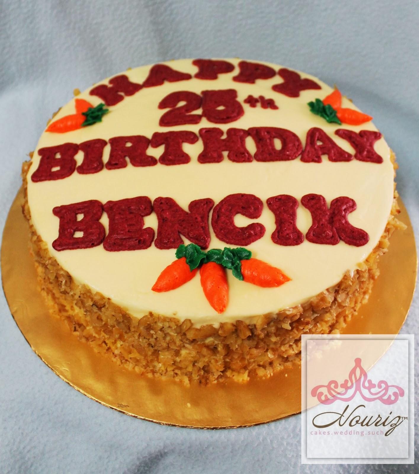 Nori Ibrahim Sweet Touch Happy 25th Birthday Carrot Moist Cakes