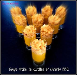 Image Soupe froide de carottes et chantilly BBQ (barbecue)