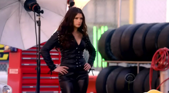 Danica Patrick leather catsuit