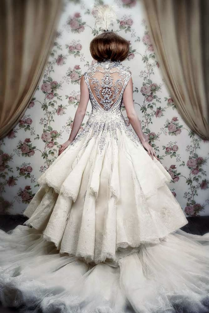 J'Aton Couture Wedding Dresses Bling Long Trains Design pictures hd