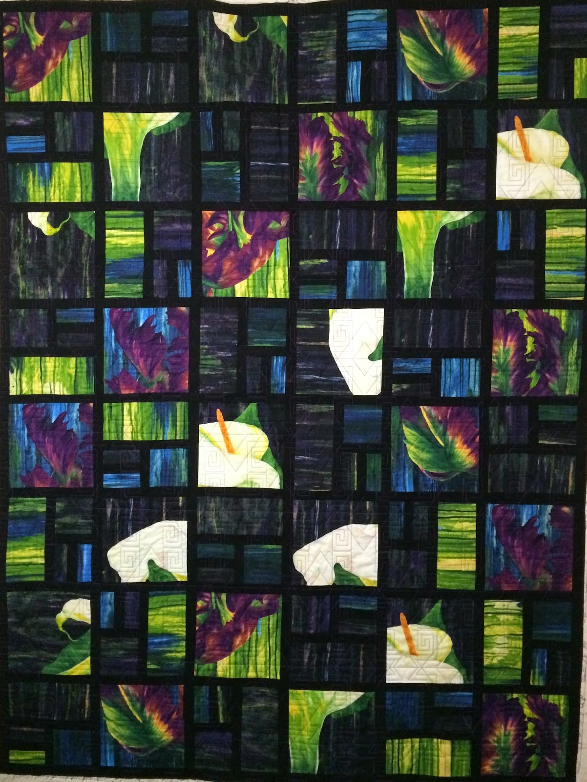Beth Robertson's Tulip and Cala Lily Quilt