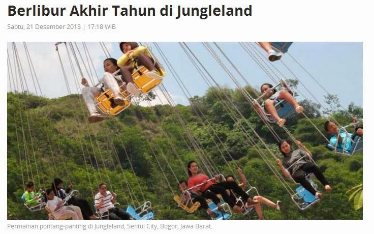 Liburan Akhir Tahun di Jungleland Adventure Theme Park