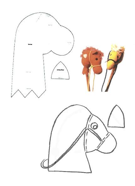 Лошадка скакалка на палочке выкройка