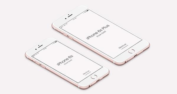 Smartphone & Tablet Mockup PSD Terbaru Gratis - iPhone 6s Psd Rose Gold