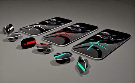 Digit MP3 Player Concept with Wireless Stereo HeadSet, multi color