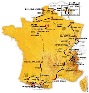 Tour de France - route