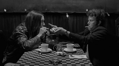 Tom Waits, Iggy Pop, Jim Jarmusch, Coffee and Cigarettes, café, nappe à carreaux, cigarette