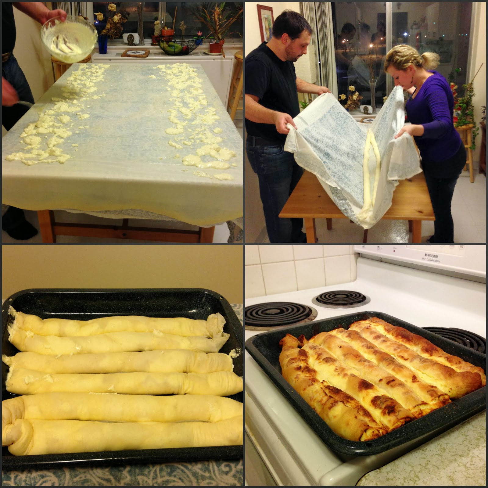 World traveler recipes home made bosnian pita burek and sirnica place side to side next to each other and repeat the same process for baking forumfinder Image collections