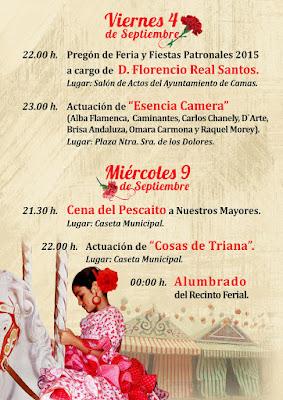 Camas - PROGRAMA DE FERIA  2015 - DÍAS 4 Y 9 DE SEPTIEMBRE