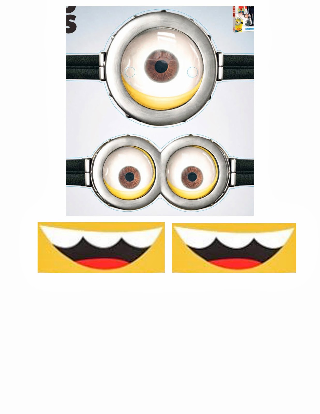 It's just a photo of Obsessed Minion Goggles Printable