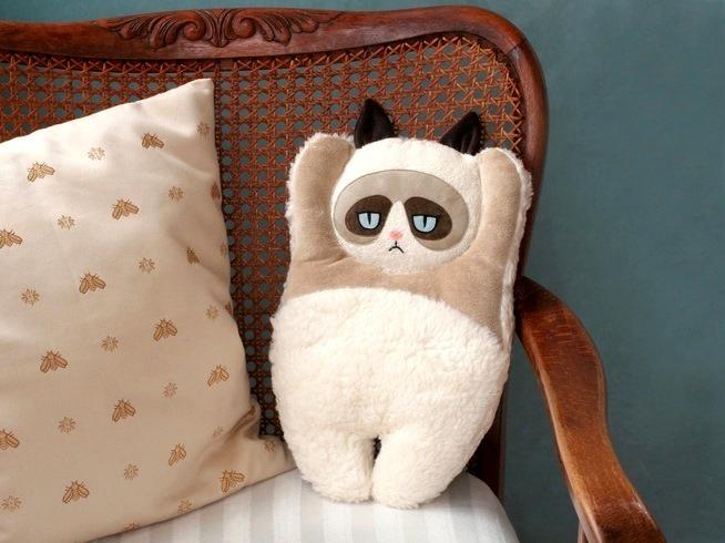 Кот подушка игрушка