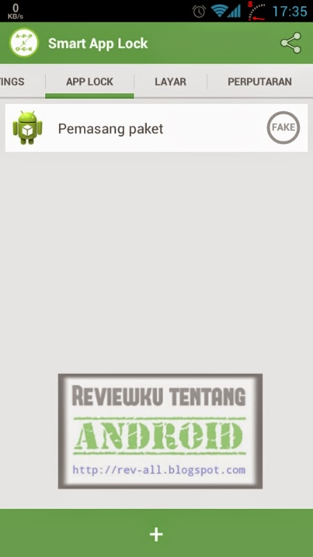 Tampilan utama aplikasi SMART APPLOCK - pengunci aplikasi dan game android (rev-all.blogspot.com)