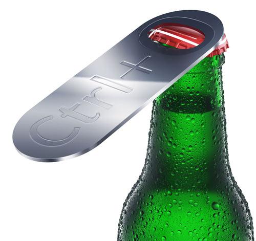 Abridor de garrafa Crtl + O