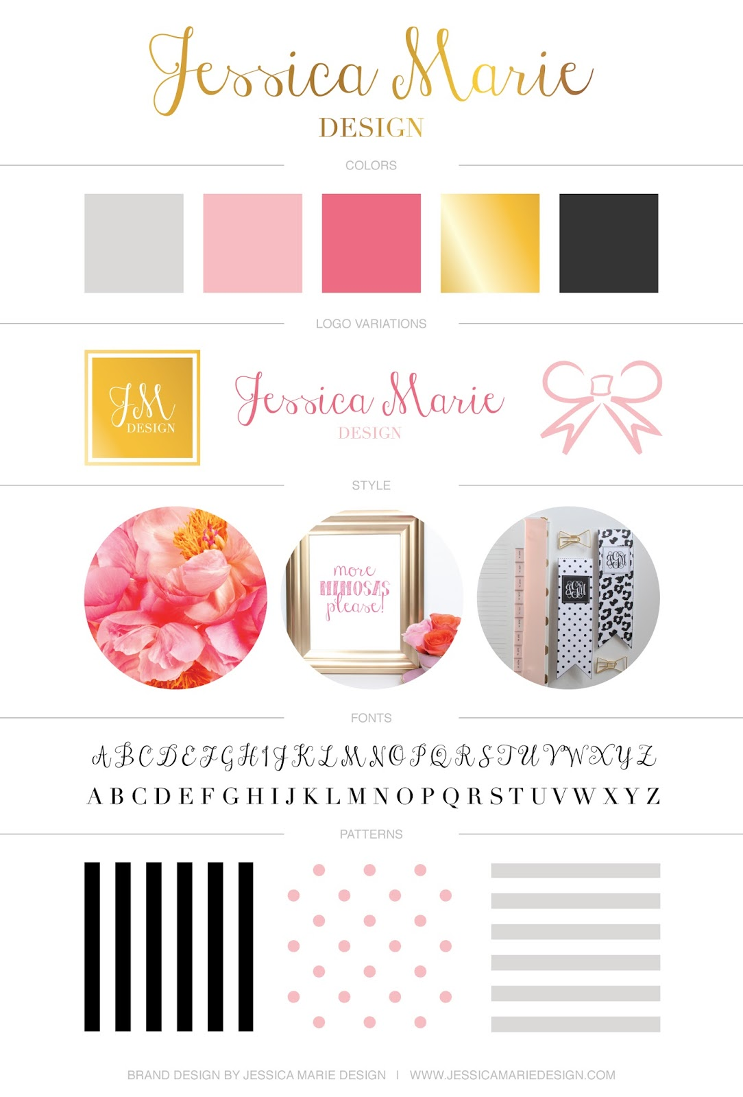 Brand Board by Jessica Marie Design