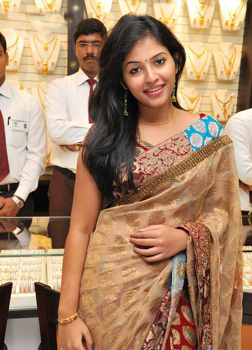 Anjali in Saree Cute Photos gallery pictures