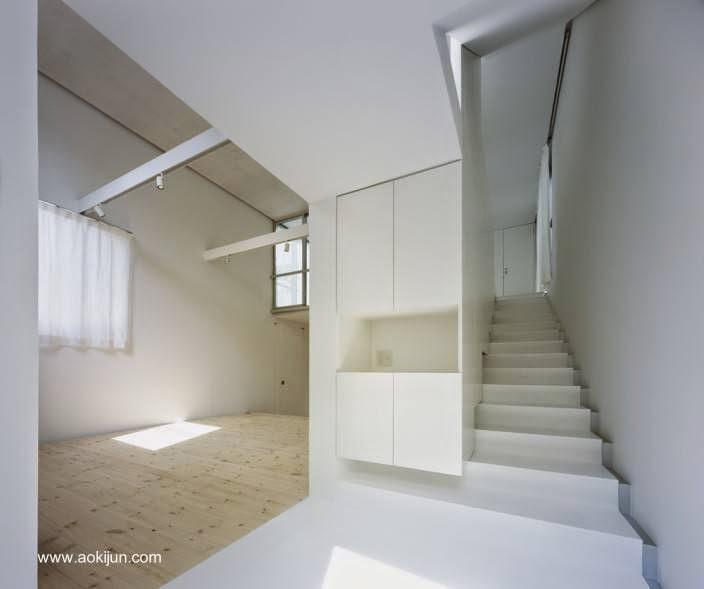 Vista del interior de la casa minimalista