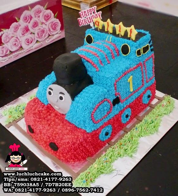 Kue Tart 3d Bentuk Kereta Thomas Daerah Surabaya - Sidoarjo