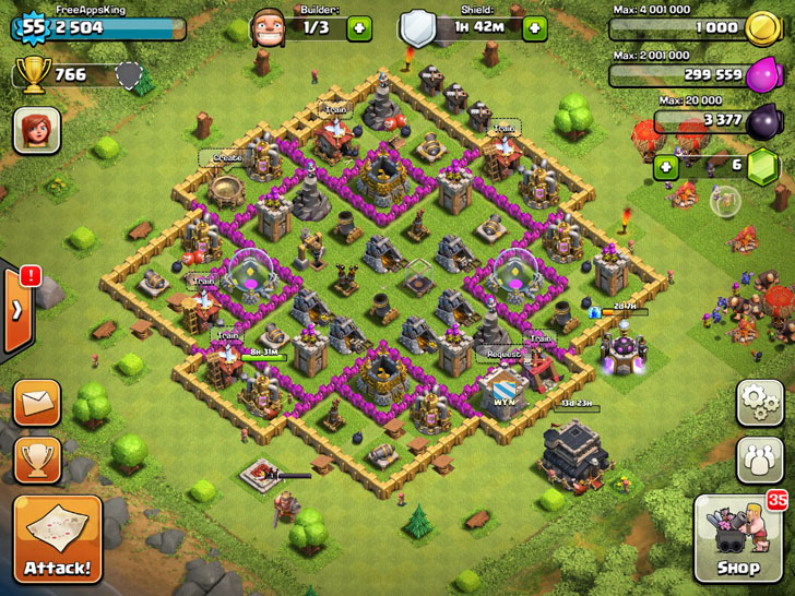 FreeAppsKing - Clash Of Clans Village - Level 55 - Clash Of Clans Guide - FreeApps.ws