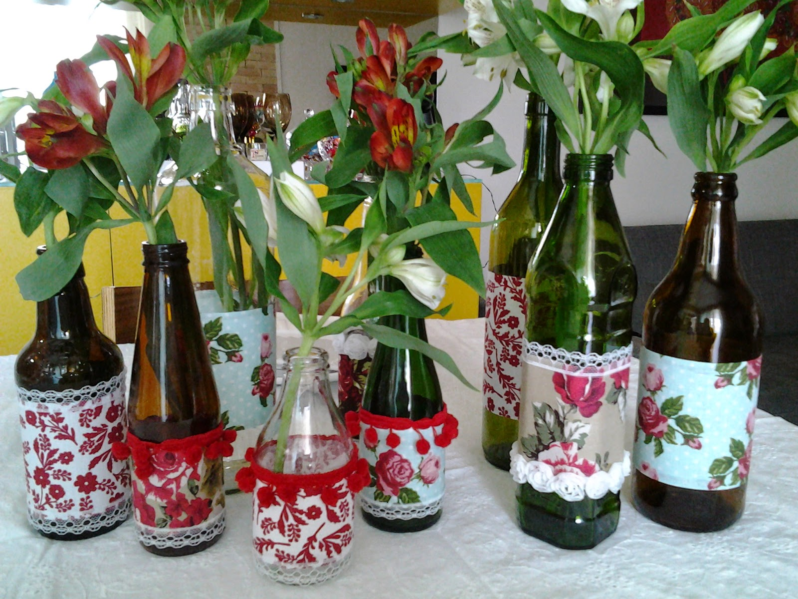 Rosa Pimenta Casório craft com convites e garrafas artesanais!
