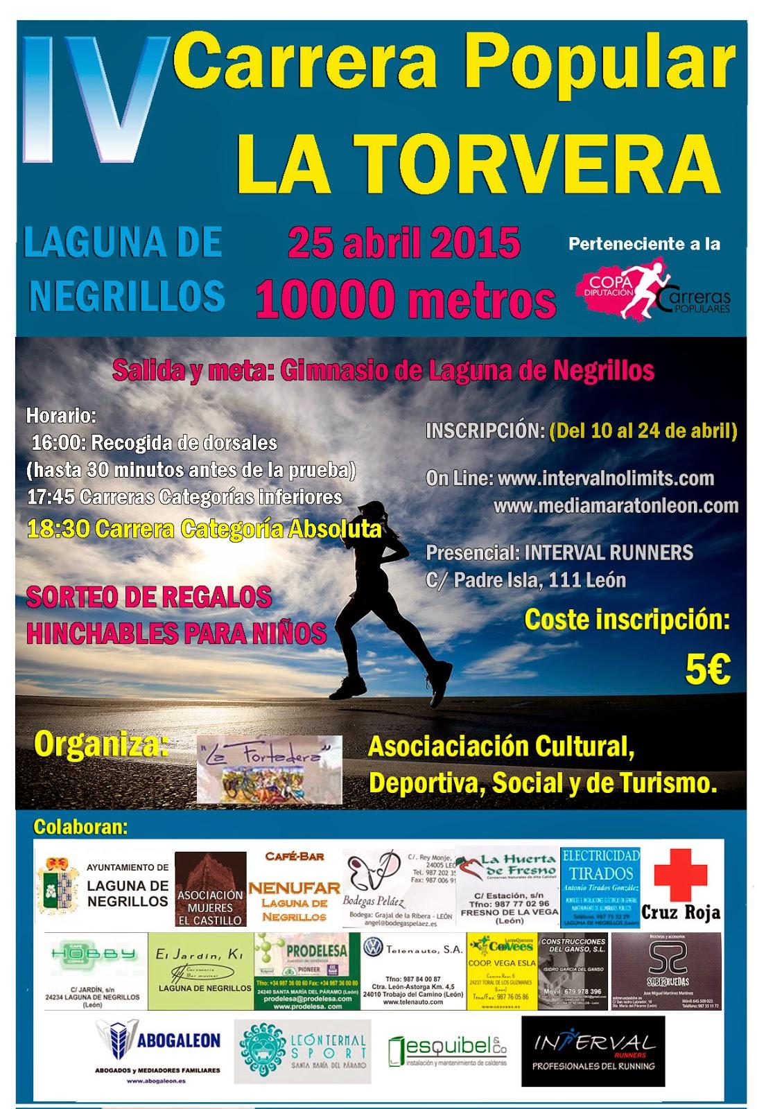 Cartel Carrera La Torvera Laguna de Negrillos