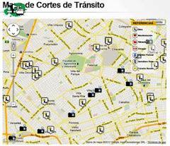 MAPA DE CORTES DE TRÁNSITO