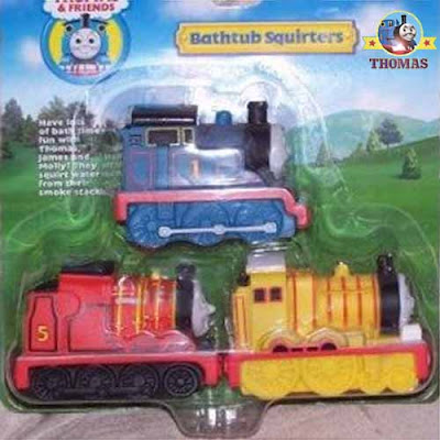 Aquatic playtime toys bathroom water games Thomas the Tank Engine James and Molly bathtub squirters
