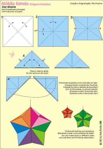 Enanitos felices dise os y diagramas en el arte del origami - Origami de una estrella ...