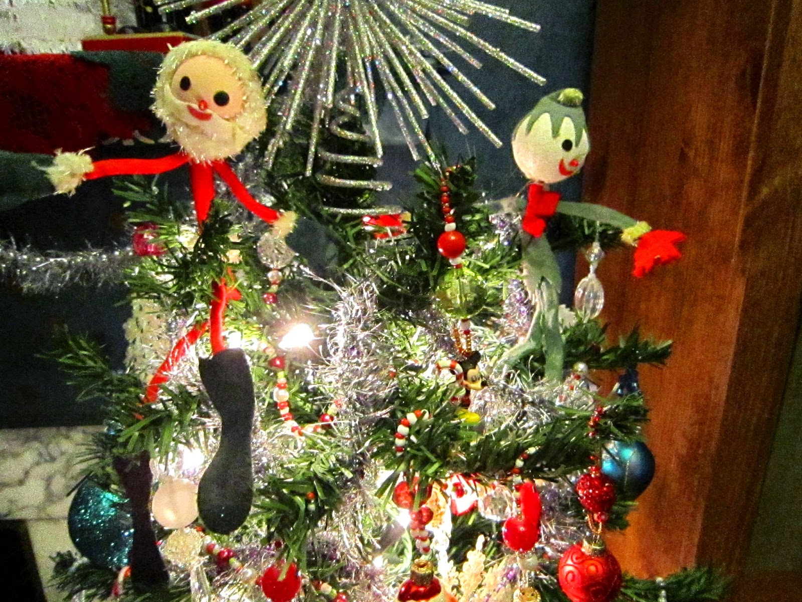 The handcrafted christmas memory lane decorations