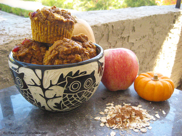 Super Moist Pumpkin-Apple Harvest Muffins. They're basically Fall in a Muffin!